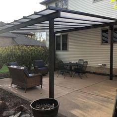 Pergola Attached To House Roof Porch Awning, Patio Roof, Patio Awnings, Front Porch, Rooftop Terrace Design, Patio Design, Backyard Covered Patios, Outdoor Shade, Shade Structure