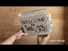 Álbum recién nacido. Newborn album. DIY Scrapbooking - YouTube