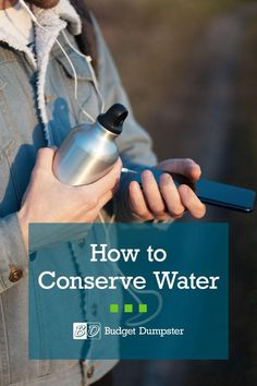 Why should we conserve water? There are two obvious answers. Water waste is not only bad for the environment, it's also bad for your water bill. Finding small ways to save water every day can not only lessen your footprint on the environment, but can also save you money. Ways To Save Water, Water Waste, Help The Environment, Water Conservation, Budgeting, Recycling, Encouragement, Water Bottle, Learning