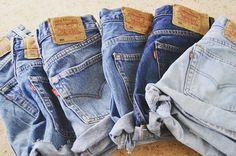 Vintage denim Levis 501 shorts all sizes by COBRAVINTAGE79 on Etsy