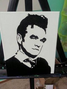 Morrissey painting by ohiodiygirl