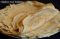 Naleśniki z mąki gryczanej, bez glutenu, wyraźniejsze w smaku niż tradycyjne naleśniki z mąki pszennej. Sprawdzają się z farszem słodkim i wytrawnym. Dumplings, Gluten Free Recipes, Free Food, Bread, Ethnic Recipes, Pierogi, Tiramisu, Polish, Cookies