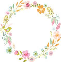 Image result for flores en acuarelas marco o bordes
