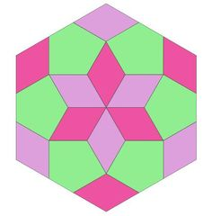 A hexagon shape this time, but also 30 centimetres in size (measured from top to bottom). I had planned to add quilt top versions with solid...