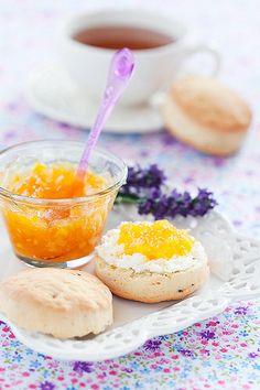 Orange lavender scone