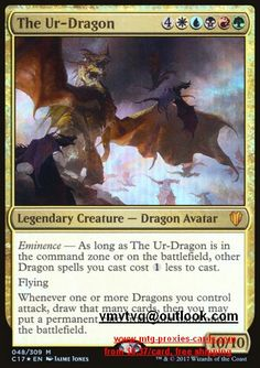 The Ur-Dragon.full C17 - Commander 2017 magic the gathering mtg proxy cards from $0.37 all cards available customize