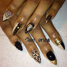 Shes_Erica's Gorgeous Acrylic Nail Design