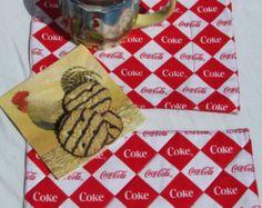 Mug Rugs Made With Coca Cola Fabric - Edit Listing - Etsy