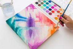 DIY your own notebook cover with a touch of watercolor.