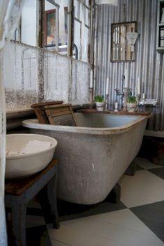 Home Interior Cocina .Home Interior Cocina Vintage Bathrooms, Rustic Bathrooms, Industrial Bathroom, Home Interior, Interior Design, Vintage Industrial Decor, Bathroom Inspiration, Bathroom Ideas, Beautiful Bathrooms