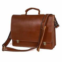 6c384661a8c02 New Men s Genuine Leather Briefcase Messenger Laptop Shoulder bag Handbag   fashion  clothing  shoes