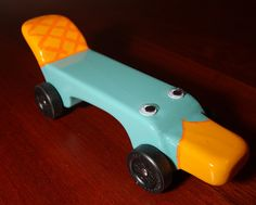 The Original Perry The Platypus Pinewood Derby Car Race Cars