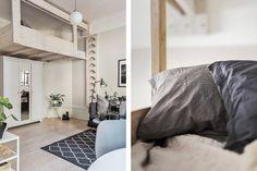 Gravity Home — Studio apartment with loft bed via BOSTHLM...