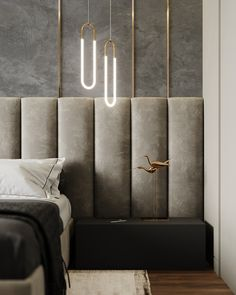 """Bedroom shades of gray"""" on Behance Modern Luxury Bedroom, Luxury Bedroom Design, Modern Master Bedroom, Bedroom Furniture Design, Master Bedroom Design, Luxurious Bedrooms, Home Interior Design, Bedroom Decor, Gothic Bedroom"""