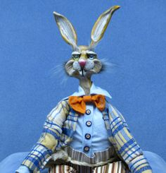 Elliott the Beanie and Bendie Easter Bunny Doll now in my e-bay store with a low $50.00 starting bid!