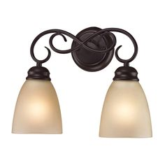 chatham 2 light bath bar in oil rubbed bronze - Oil Rubbed Bronze Bathroom Lighting