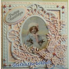 Kerstkaartje roze Picture Cards, Decor, Trading Cards, Decoration, Pictorial Maps, Decorating, Deco