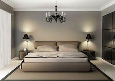 monochrome farben im schlafzimmer kombinieren-luxus kronleuchter, Modern Dekoo