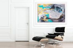Extra Large Wall Art Original Painting on Canvas Contemporary Wallart Modern Abstract Living Room Wall ArtColorful Abstract Painting Large Abstract Wall Art, Canvas Wall Art, Wall Art Prints, Animal Paintings, Canvas Paintings, Abstract Paintings, Animal Drawings, Hallway Art, Hallway Ideas