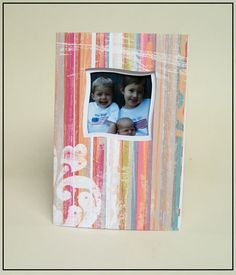 Wavy Window Card made with a card template