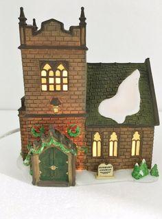 Dept 56 Heritage Dickens Village Sudbury Church Building w Light Cord 58322