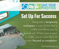 Organize your photos by setting yourself up for success with a proper workspace. #saveyourphotos