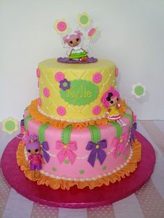 Super adorable Lalaloopsy cake