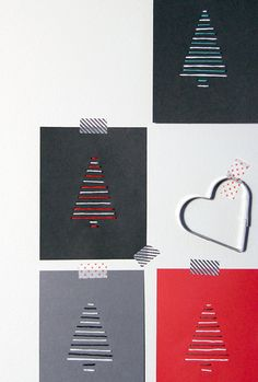 38 New ideas diy christmas cards minimalist Diy Christmas Decorations Easy, Diy Christmas Cards, Christmas Crafts For Kids, Christmas Activities, Homemade Christmas, Xmas Cards, Diy Cards, Christmas Tree, Homemade Cards