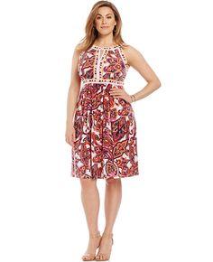 So cute! Plus Size Keyhole Halter Dress