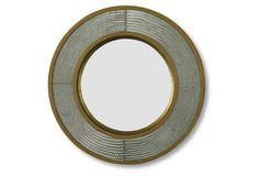 Round Metal Mirror, Gold