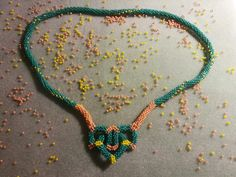 Necklace hand made by Manufaktura Leo Leather Working, Leo, Beaded Necklace, Jewelry Making, Handmade, Fashion, Beaded Collar, Moda, Hand Made