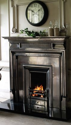UKAA has the Royal is a cast iron fireplace insert in a Georgian Style available to purchase. It is an imposing, straight edged insert which has a bold shape and square opening. It looks stunning in the full polish.