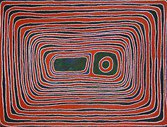 Jimmy Mawukura Mulgra Nerrimah, Kumpujarti 1, 2003, acrylic on canvas, 122 x 91 cm. Coo-ee Aboriginal Art Gallery, Bondi Beach.