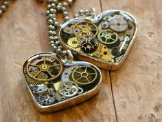 Steampunk Hearts #provestra @Wendy Ketelsen you could make these!