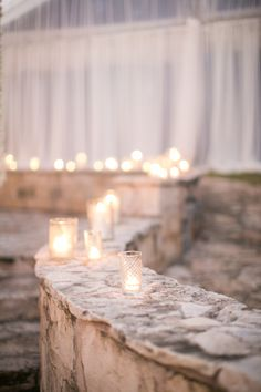 Candlelit Path to Reception | Austin wedding at The Allen House | Planning, Design, and Florals by The Nouveau Romantics | Photography by Taylor Lord