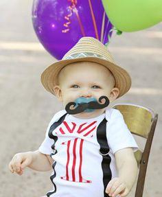 First Birthday Onesie Baby Boy 1 Navy Blue and by LittleStitchinLu, $19.50