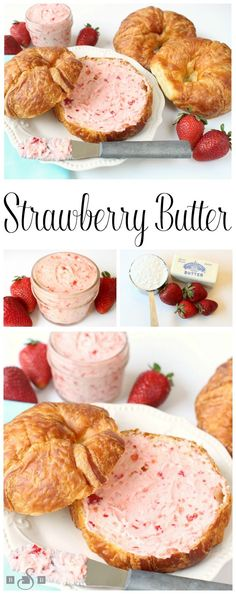 Strawberry Butter is a simple and delicious fresh fruit spread recipe that's great on biscuits, rolls and toast! Just 3 ingredients and only 5 minutes to make this amazing strawberry butter recipe. Strawberry Butter, Strawberry Recipes, Fruit Recipes, Cooking Recipes, Recipes With Strawberries, Strawberries Garden, Cheesecake Strawberries, Strawberry Muffins, Strawberry Picking