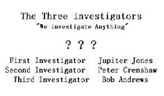 The Three Investigators, where my love of mystery started!