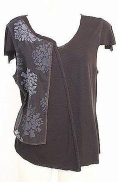 T-Shirt à effet asymétrique : Modèle de patron de couture pour grande taille : T-Shirt
