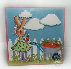 Vicki G Stamps: Impression Obsession Designer Challenge-Easter Fun!