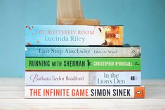 Reviews of these 5 books 1. Last Stop Auschwitz by Eddy de Wind 2. Running with Sherman by Christopher McDougall 3. In the Lion's Den by Barbara Taylor Bradford 4. The Infinite Game by Simon Sinek 5. The Butterfly Room by Lucinda Riley Barbara Taylor Bradford, Infinite Game, Butterfly Room, Simon Sinek, Book Corners, Latest Books, Memoirs, Book Review, Den