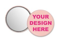 Personalized mirror compact mirror with your logo photo image 0