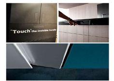 tirador para puertas batientes, armario y cajones de mueble y cocina. Invisible, silencioso, novedoso Tile Floor, Flooring, Silent E, Swinging Doors, Drawers, Closets, Cooking, Furniture, Tile Flooring
