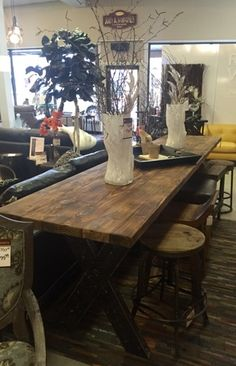 This Long Rustic Dining Table Is Perfect For Entertaining Family And Friends Available At