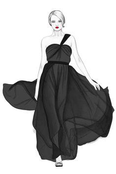Fashion Illustration by Nicole Jarecz, via Behance