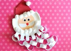 This Santa beard Christmas countdown craft is perfect for keeping kids excited about Christmas all month long. Kids Christmas Craft and Santa Craft.