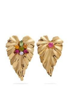 Gold-plated mismatch earrings | Rodarte | MATCHESFASHION.COM