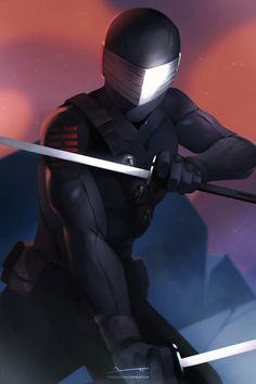 "charlestan: ""Got commissioned to do a Snake Eyes painting! Arte Ninja, Ninja Art, Snake Eyes Gi Joe, Arte Gundam, Character Art, Character Design, Storm Shadow, Morning Cartoon, Shadow Warrior"