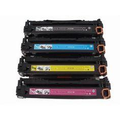 HP CE320A Compatible Toner Cartridges Full Set, CE320A CE321A CE322A CE323A