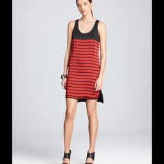 ✨HP✨ MICHAEL MICHAEL KORS Bretton tank dress Black and red stripes, back is all black. This dress is so amazing but doesn't fit me. I was looking for it to be looser in fit but it's just to loose. I would wear an XS or S. So I would say it's overall fit is tts or loose for a M. Purchased on posh and never worn by me. It's in great condition other than a few marks on the front. Was just dry cleaned. The marks are not that visible (can be seen in last pic, hard to capture they are that not…